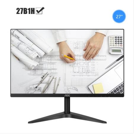 AOC 27B1H 27英寸直面电脑电竞游戏高清屏幕游戏液晶显示器27