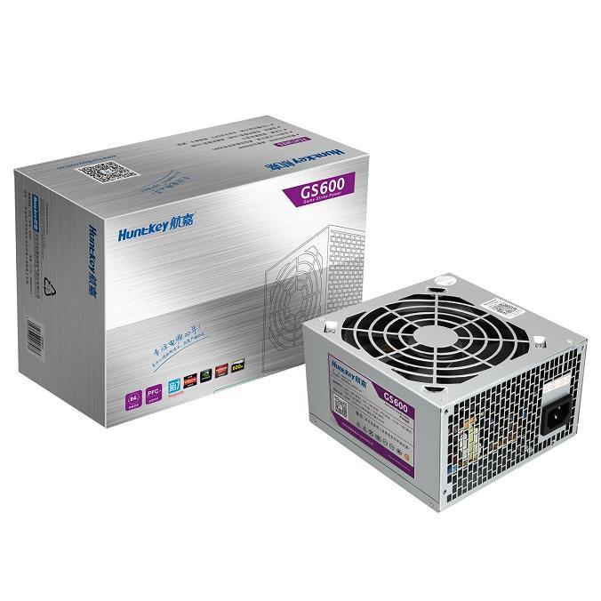 原装正品航嘉GS600电脑电源额定500W台式机主机电源三年质保