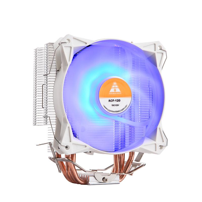 金河田炎冰400 CPU散热器4热铜管塔式风扇上115X针AMD台式机风扇