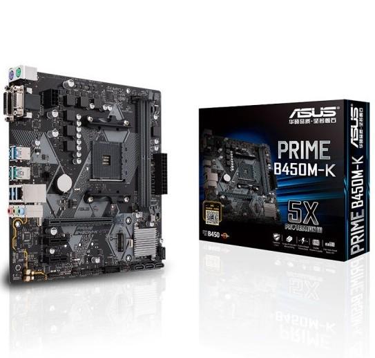 Asus/华硕 PRIME B450M-K 台式机电脑游戏AM4电竞主板