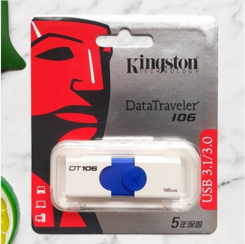 金士顿DT106高速16G优盘USB3.1推拉创意电脑U盘闪存盘